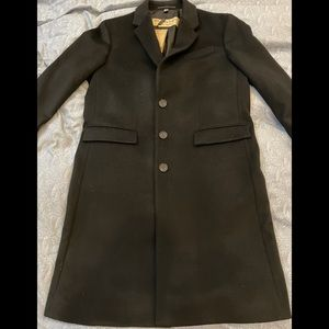 Burberry Mens Wool/Cashmere Blend Overcoat Size 44